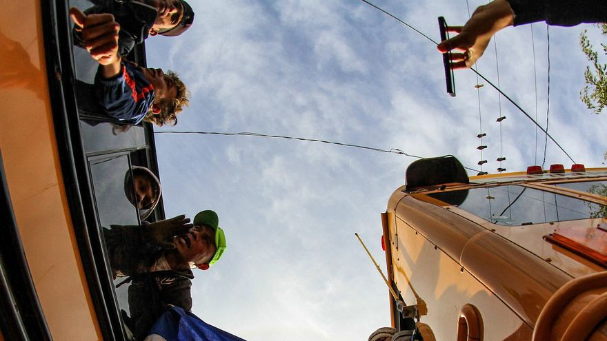 Integrantes de la caravana de centroamericanos llegan a Tijuana, en el estado de Baja California (México). Foto: EFE/Joebeth Terriquez
