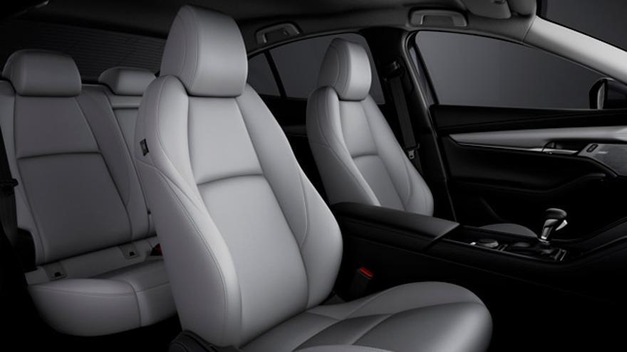 El interior del Mazda3.