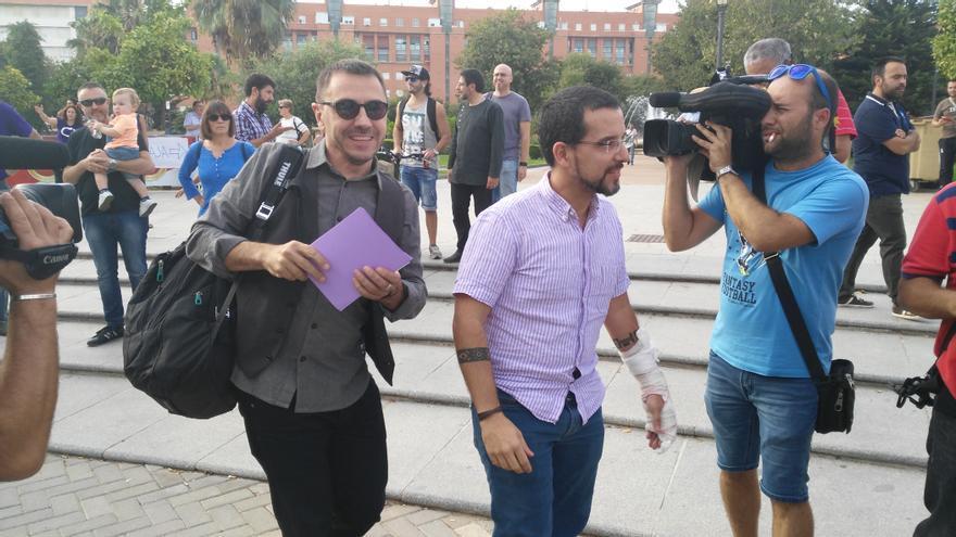 Juan Carlos Monedero y Sergio Pascual en Sevilla.