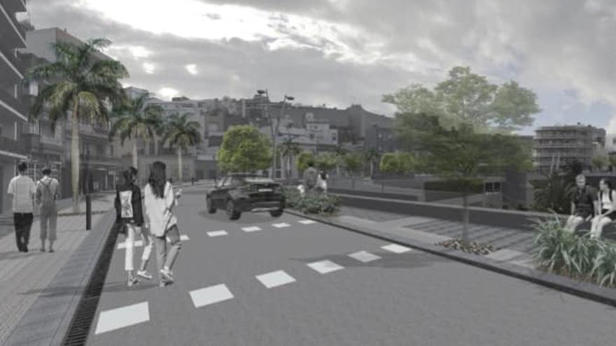 Recreación del proyecto en la Avenida de La Constitución.