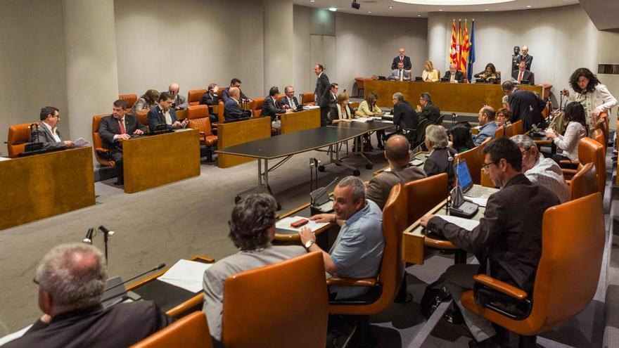 Pleno de la Diputación de Barcelona. / ENRIC CATALÀ