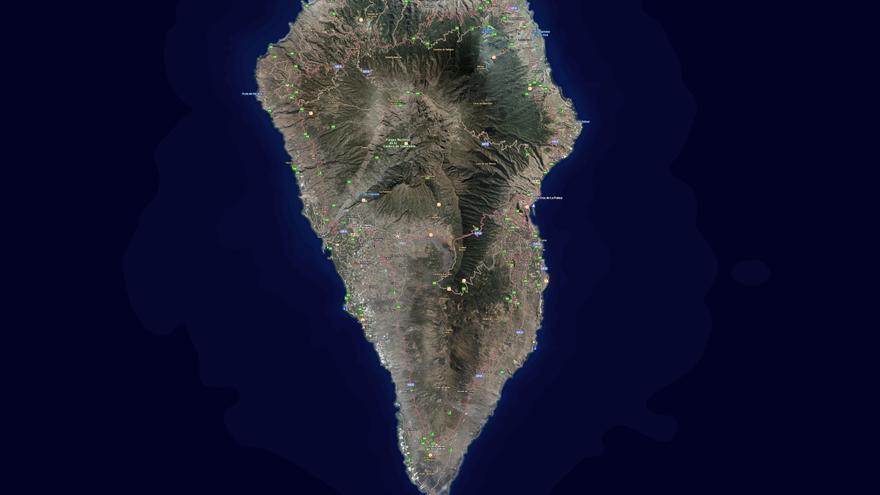 Callejero Mapa De Las Palmas.El Nuevo Mapa Callejero De La Palma Ofrece Datos De 2 823