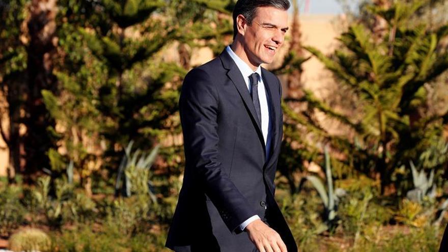 Sánchez llega a Santo Domingo para su reunión con Medina y un acto socialista
