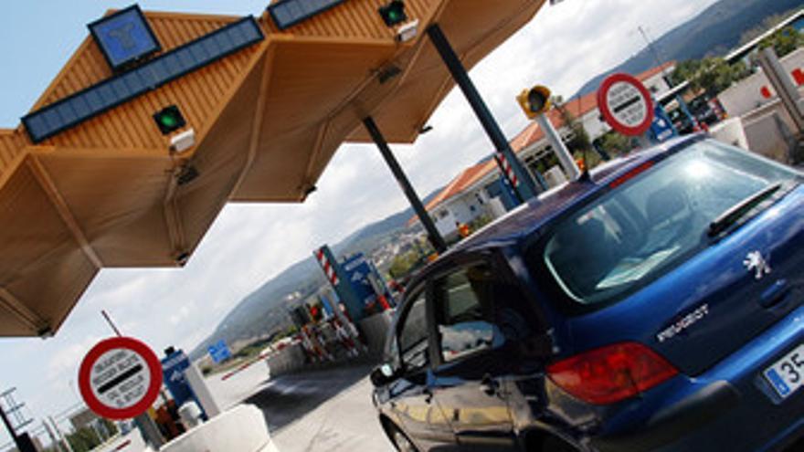 Cabina de peaje de una autopista