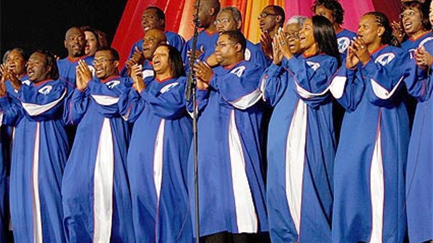 El Mississippi Gospel Choir actúa el martes en la sala principal de Baluarte (Pamplona).