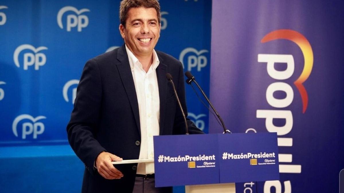 Carlos Mazón en su presentación como candidato del PPCV.