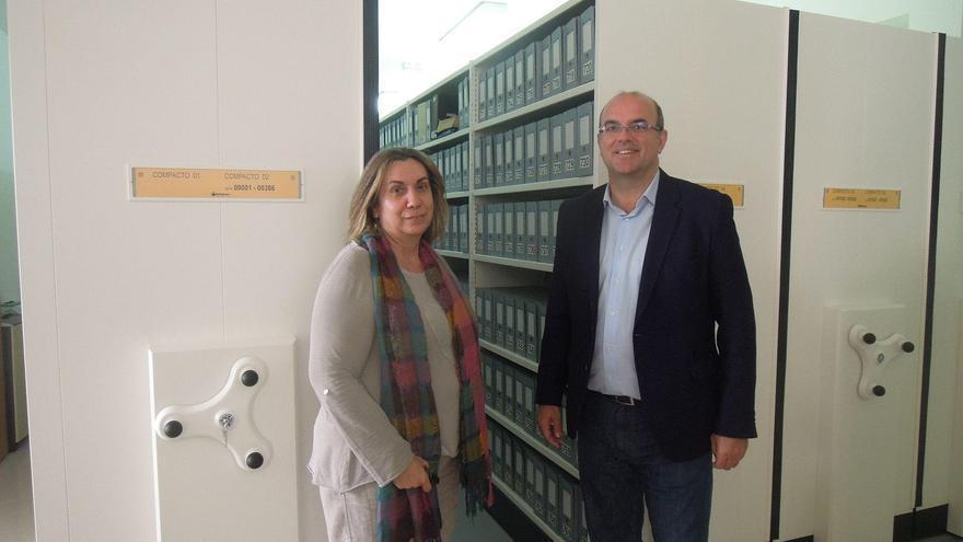 El nuevo espacio del Archivo Central aumenta la capacidad de almacenamiento respecto al actual en un mínimo de 12.500 cajas (frente a las 4.000 que se podían albergar en el antiguo local en el que se encontraba el archivo).