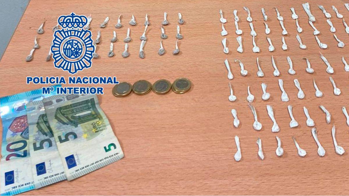 Droga intervenida por la Policía Nacional.