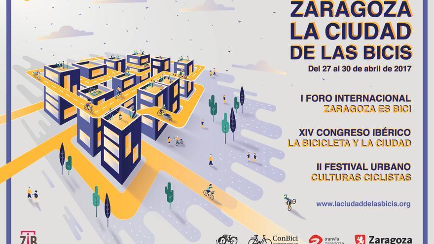 El cartel de 'La ciudad de las bicis', uno de los eventos más ambiciosos en torno a la bicicleta como herramienta de transformación.