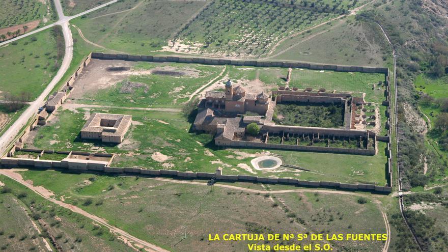 Vista aérea de La Cartuja de Los Monegros