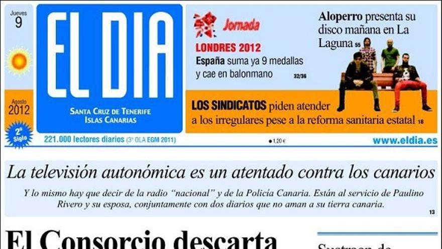 De las portadas del día (09/08/2012) #4