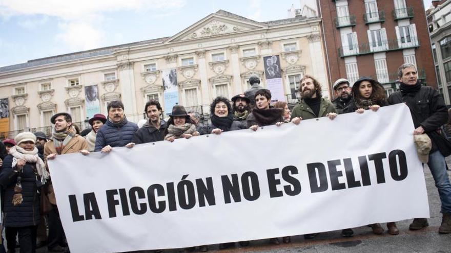 Manifestación en defensa de la libertad de expresión.
