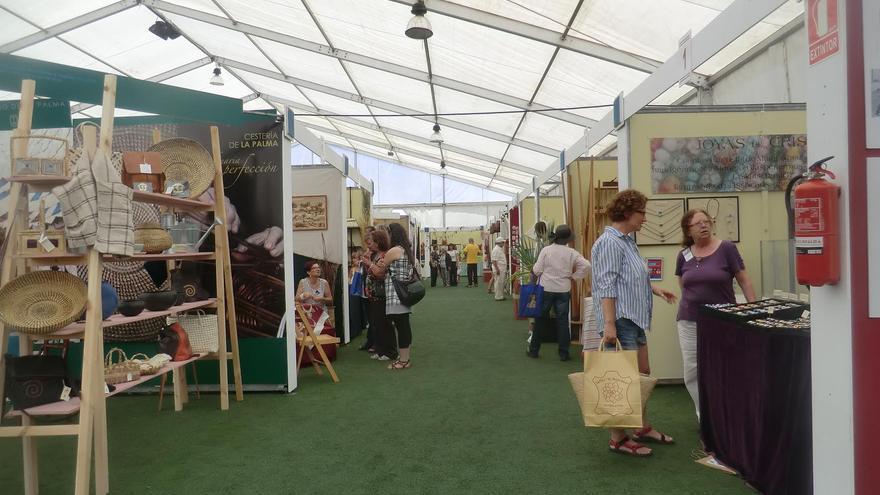 En la imagen, recinto de la Feria Insular de Artesanía, en Tijarafe.