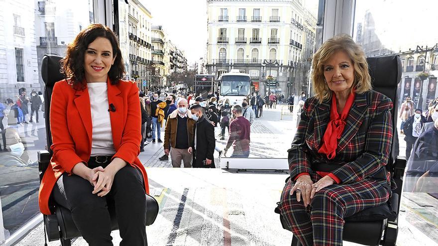 Isabel Diaz Ayuso y María Teresa Campos en 'La Campos Móvil'