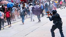 Disturbios durante las movilizaciones de esta semana contra la ley de seguridad nacional.