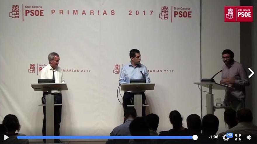 Los candiatos a dirigir el PSOE en Gran Canaria, Sebastián Franquis y Alejandro Ramos.