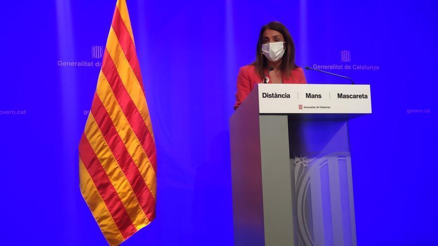 La consellera de Presidencia y portavoz del Govern, Meritxell Budó, en rueda de prensa.