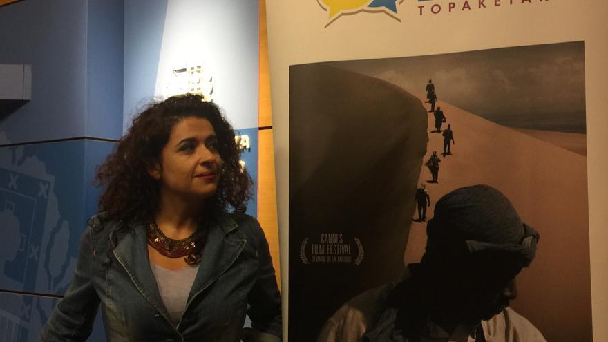 La escritora y periodista Leila Nachawati, en la presentación del documental Mediterránea.