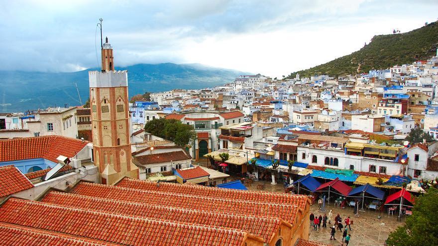 Tejadillos de la Mezquita Mayor desde la torre de la Alcazaba. Gabriel Rodríguez (CC)