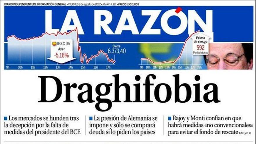 De las portadas del día (03/08/2012) #9
