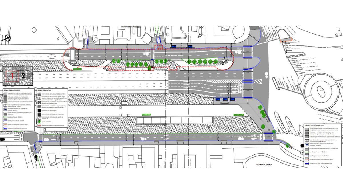 Planos de la remodelación de aceras del Paseo de Recoletos | AYUNTAMIENTO DE MADRID