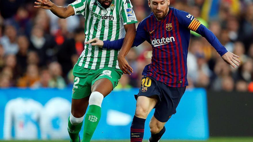 Partido entre el Barcelona y el Betis, emitido en televisión de pago.
