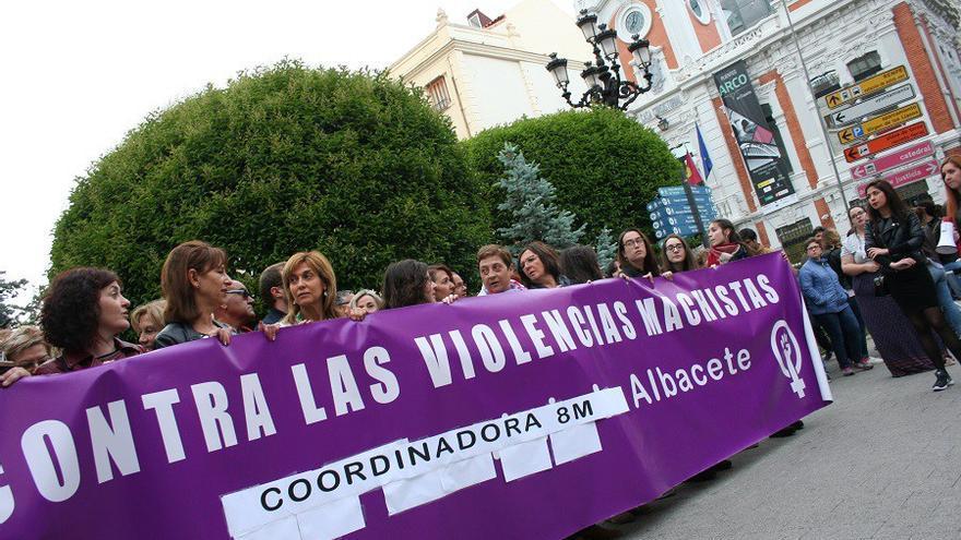 Manifestación, ayer, en Albacete