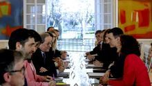 La reunión de la mesa de diálogo entre Gobierno y Generalitat no quedó plasmada en actas, orden del día ni en ningún registro oficial