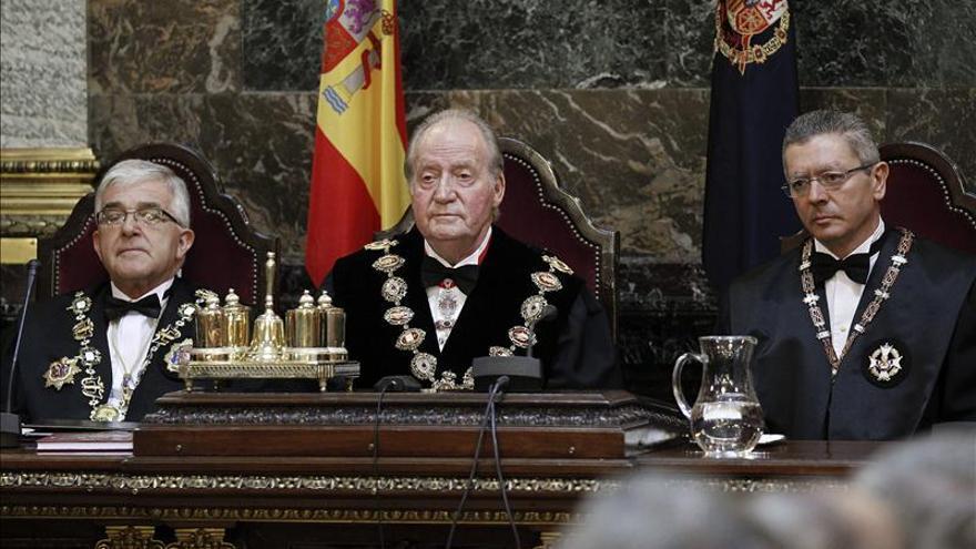 El rey, durante la apertura del año judicial