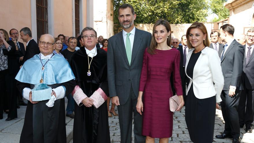 Cospedal, los reyes, Miguel Ángel Collado, 30 de septiembre. Foto: castillalamancha.es