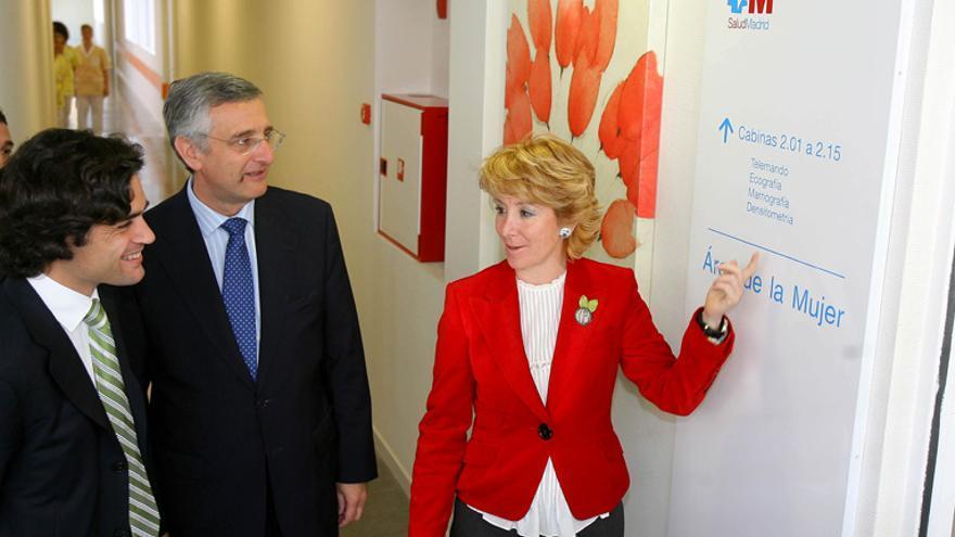 Esperanza Aguirre y Juan José Güemes en la inauguración del Infanta Leonor.