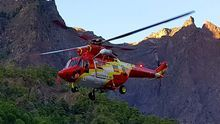 Helicóptero del GES en una intervención en La Caldera.