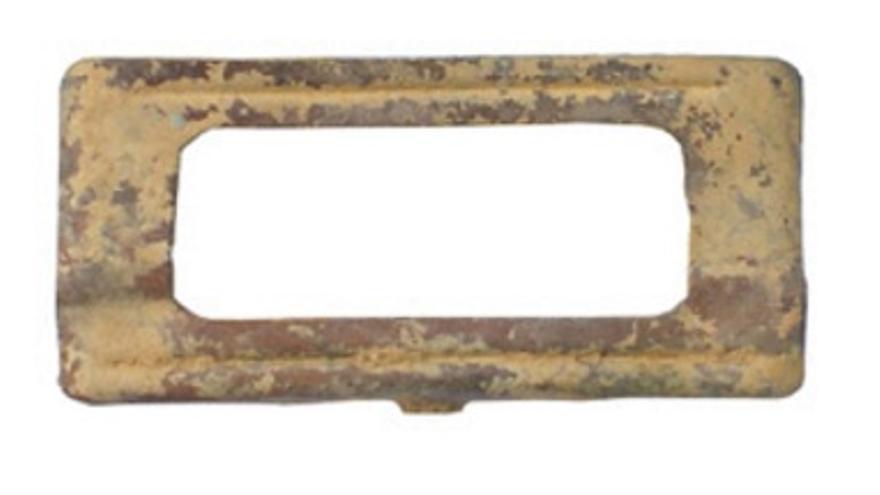 """Cargador de un fusil encontrado en una trinchera en Casturera / Asociación para el Estudio y Recuperación del Patrimonio bélico reciente """"Frente Extremeño"""""""