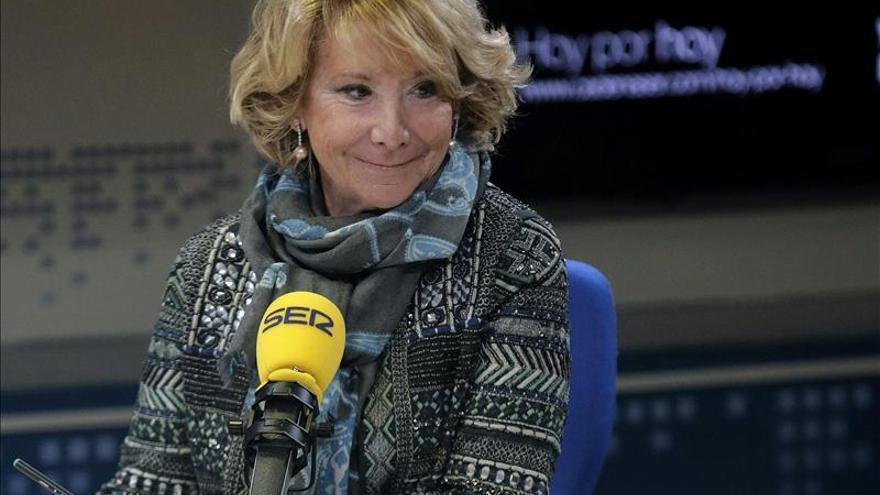 Esperanza Aguirre durante su entrevista el jueves en la SER. / Efe