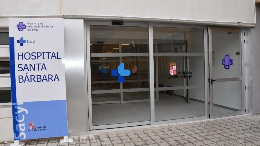 La entrada del Hospital Santa Bárbara de Soria