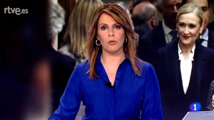Pilar García Muñiz en el Telediario 1