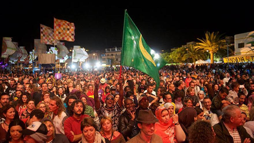 Celebración del Festival WOMAD en Gran Tarajal.