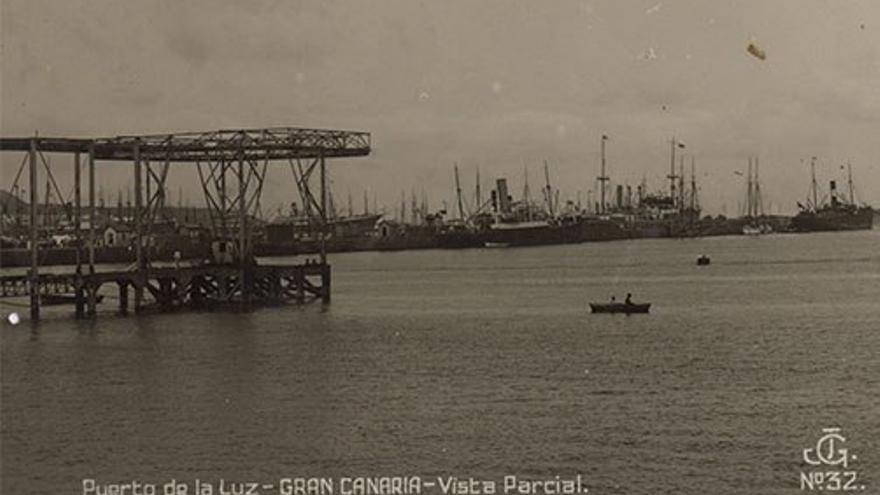 Puerto de la Luz, 1920. (Joaquín González Espinosa).