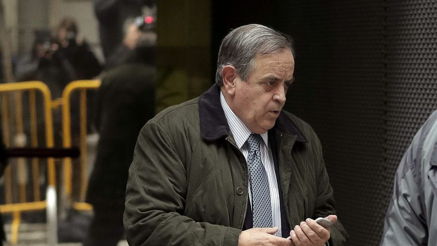 Luis Blasco sale de la Audiencia Nacional en febrero de 2015.