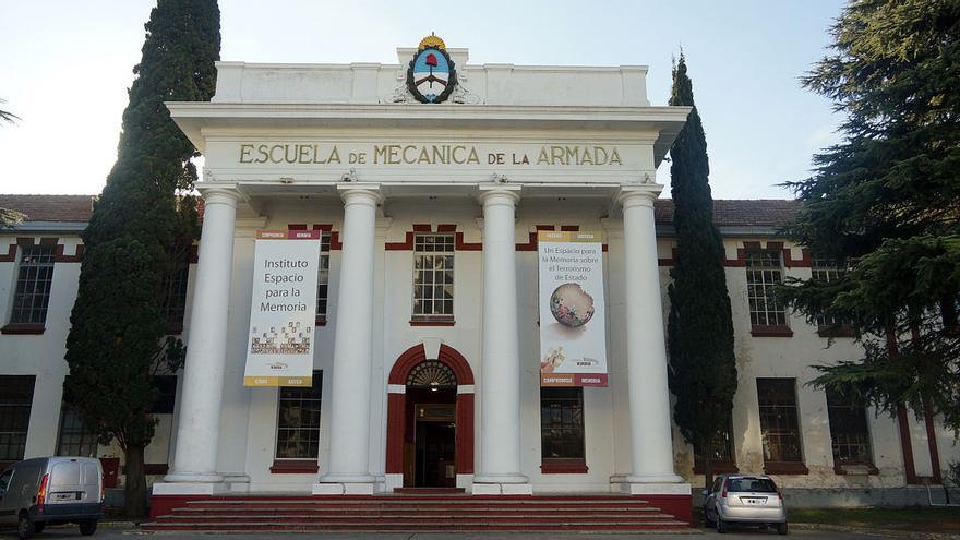 Escuela de Mecánica de la Armada, en Buenos Aires, excentro clandestino y hoy memorial (Imagen: Wikipedia)