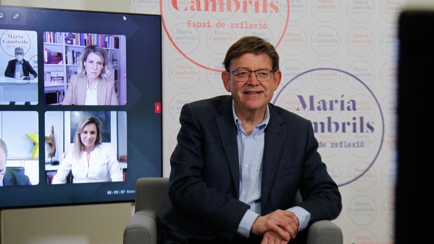 El presidente de la Generalitat, Ximo Puig, en la videoconferencia 'Polarización, ¿un efecto ineludible?'