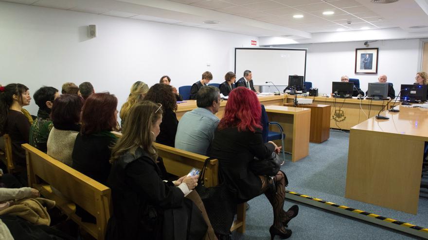 Vista de la sala de lo Social de la Audiencia Nacional donde se ha celebrado el juicio sobre el sindicato OTRAS