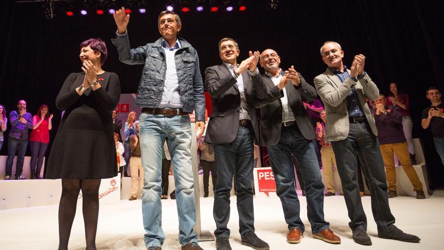 Gardiazabal, Madina, López, Pastor y el alcalde de Barakaldo, Alfonso García.