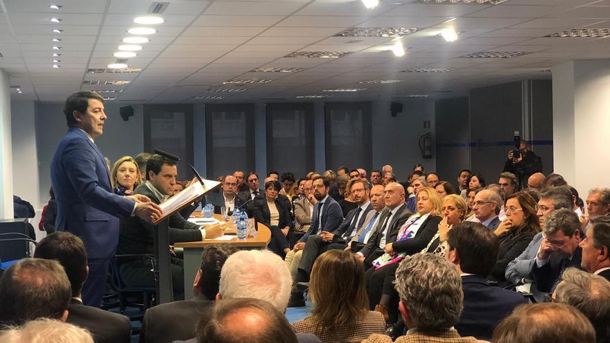 Alfonso Fernández Mañueco en la clausura de la junta directiva del PPCyL