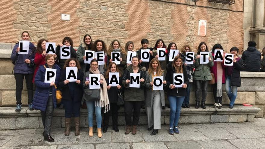 Periodistas de Toledo en la Plaza del Ayuntamiento
