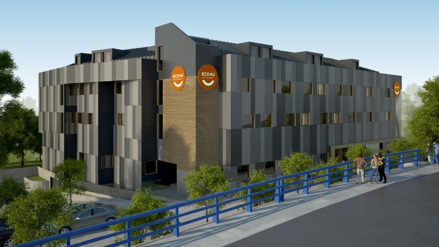 Representación del nuevo hotel de Santander.