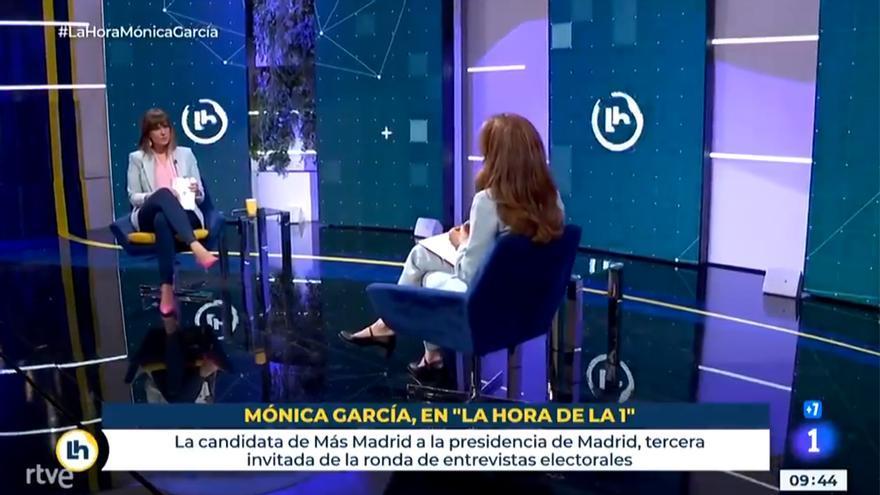 Mónica López y Mónica García en 'La hora de La 1'