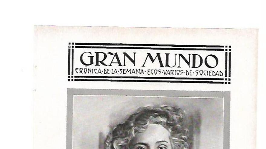 María Luisa Gómez Pelayo, marquesa de Pelayo y sobrina del marqués de Valdecilla, es recordada por su contribución a la puesta en marcha de la Casa de Salud Valdecilla. En la fotografía, en una página del semanario Gran Mundo.