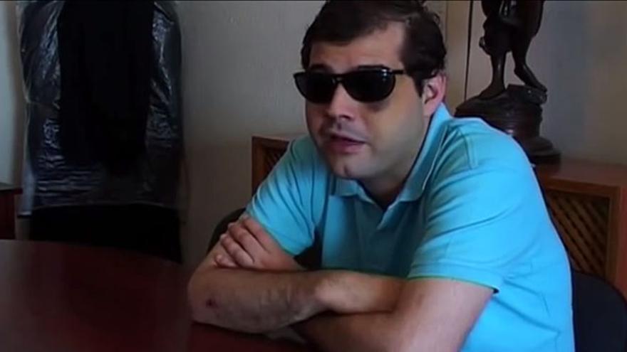 Juan David García Pazos, en un fotograma del documental 'La Isla estrellada'.