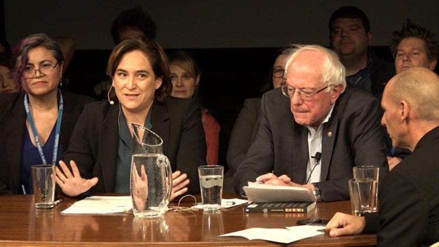 Ada Colau y Bernie Sanders este sábado